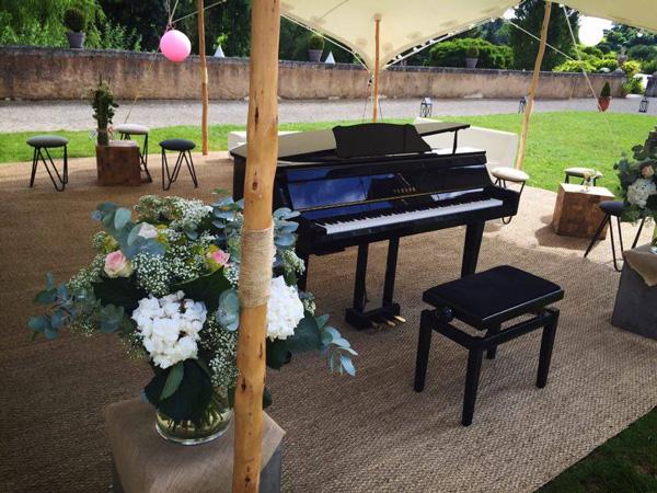 piano à queue pour mariage